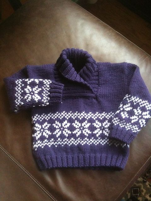 Little Toboggan sweater by Sublime Yarns