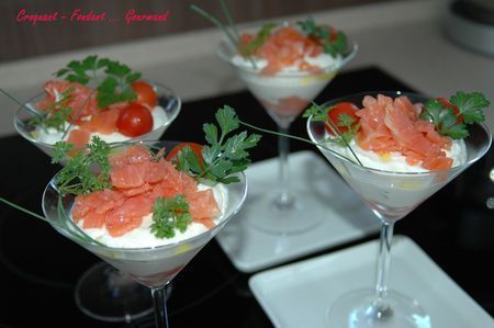 Du crémeux et de la fraîcheur, c'est tout ce qu'on adore ! - Recette Entrée : Crémeux de chou-fleur au saumon fumé par Michelebabouchka