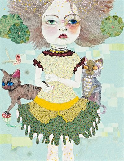 "Del Kathryn Barton ""Keeper of the Polka-dots"", Gould Galleries Melbourne 