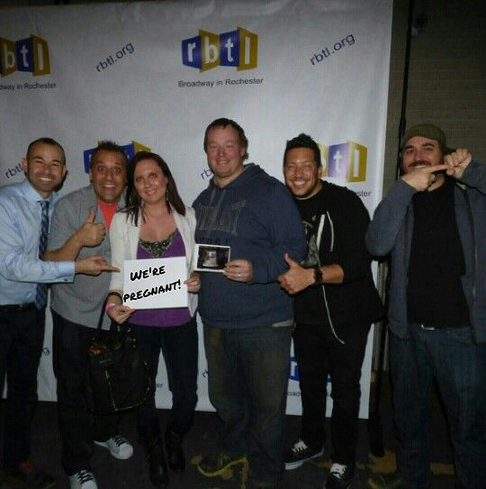 Our pregnancy announcement with help from the cast of Impractical Jokers!