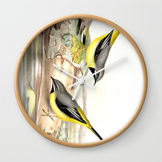 Grey wagtail Wall Clock