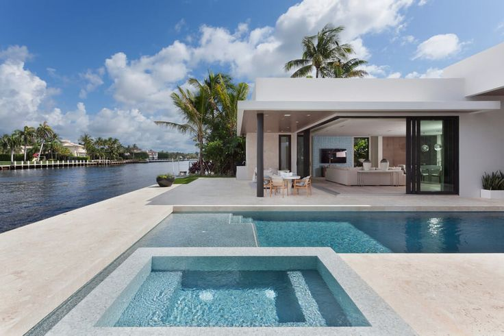 Home in boca raton by brenner architecture group for Pool design boca raton