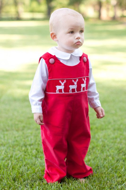 Smocked Holiday Clothes for Boys