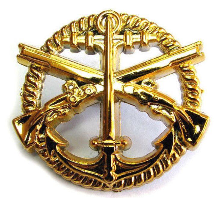 Ukraine Ukrainian Army Cockade Hat Cap Beret Badge Navy Marines Swat