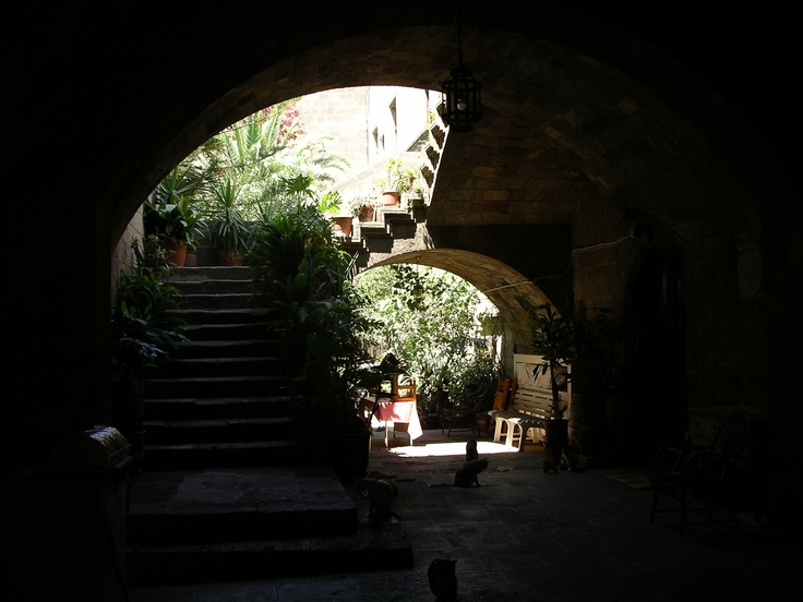 Street of Knights courtyard