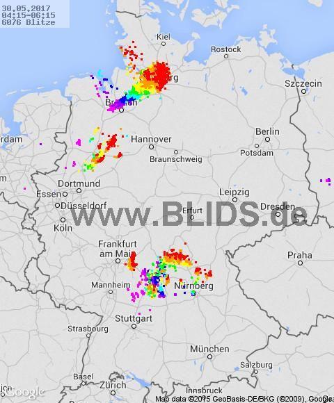 Blitze Deutschland - Wetterdienst.de