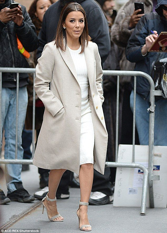 Promotional train: On Friday, Eva Longoria was seen arriving for her appearance on The Vie...