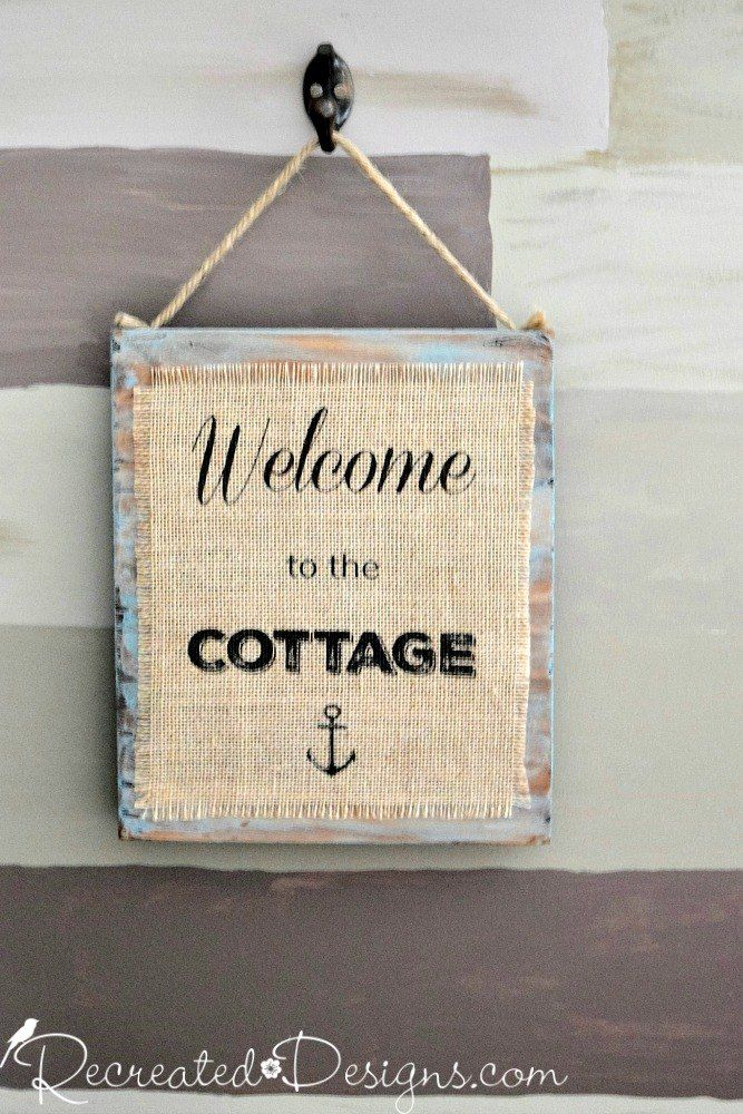 The Easiest Way to Print on Burlap for Rustic Signs