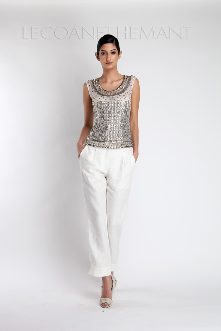 Love !!! the embellished top of Lecoanet Hemant SS 12 collection