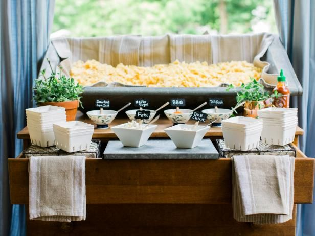 Help guests satisfy their salty tooth with a serve-yourself snack station stocked with kettle chips, savory seasonings and gourmet toppings.
