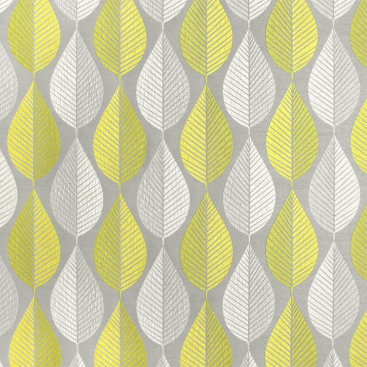 HGTV Loose Leaf Citrine Fabric