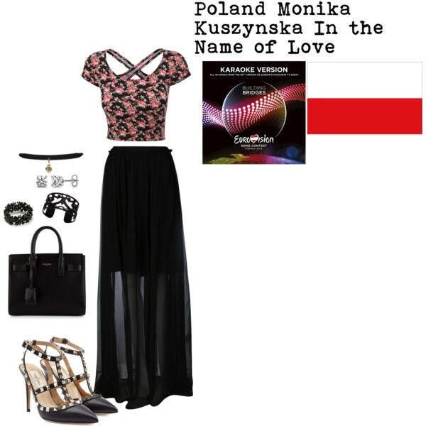 Poland Eurovision 2015 by grace-buerklin on Polyvore featuring Carven, Valentino, Yves Saint Laurent, Lisa August and BERRICLE