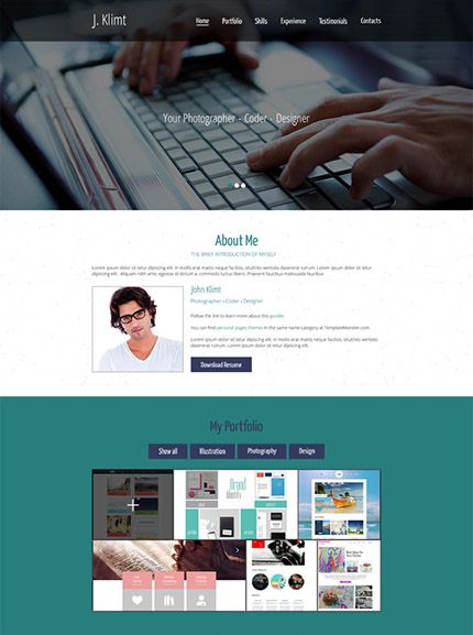 Best Html Website Templates Images On   Design Web