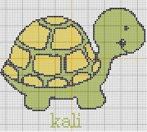 turtle cross stitch pattern