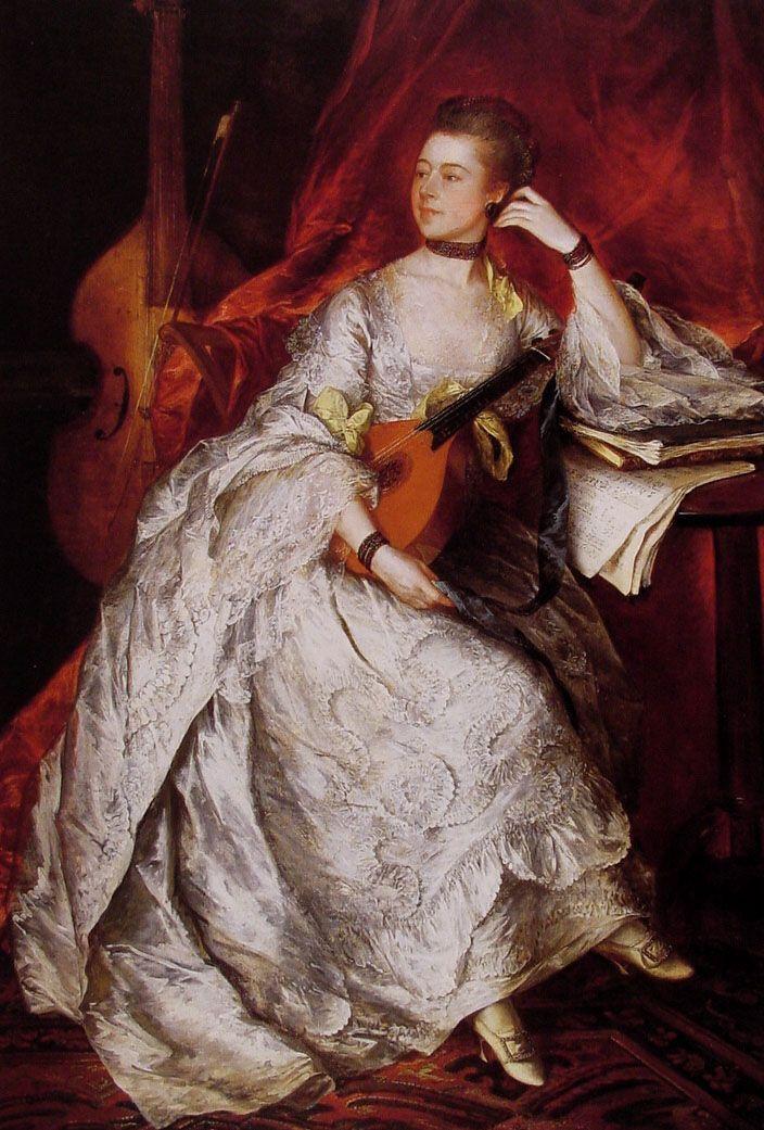 "Thomas Gainsborough (1727-1788)   ""Ann Ford (Mme Philippe Thicknesse)""   Huile sur toile    Cincinnati Art Museum (Cincinnati, Ohio, États-Unis)"
