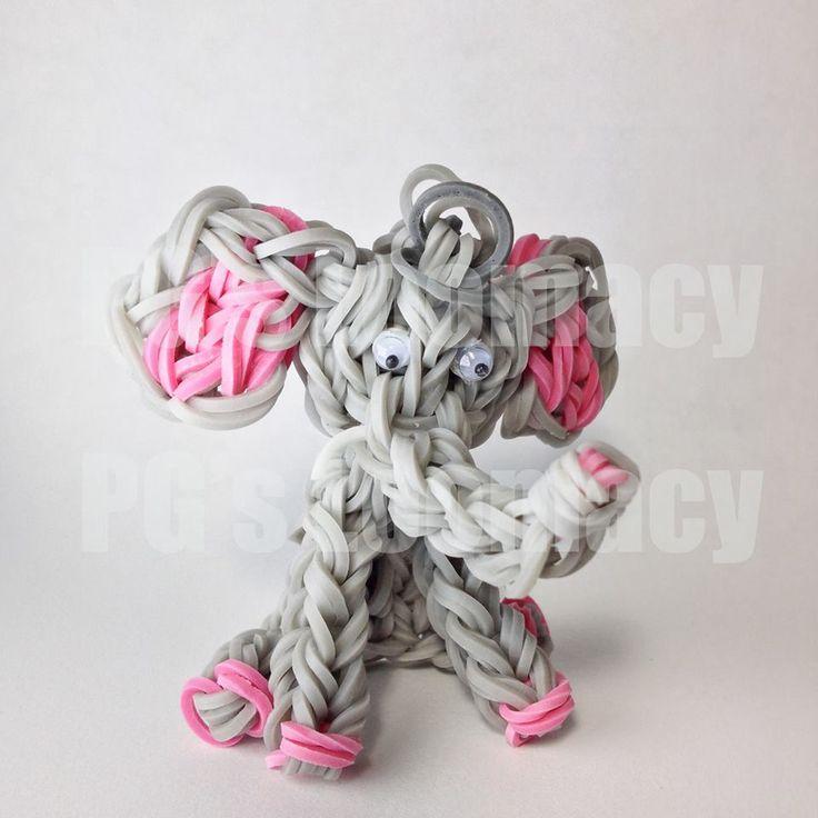 Rainbow loom elephant