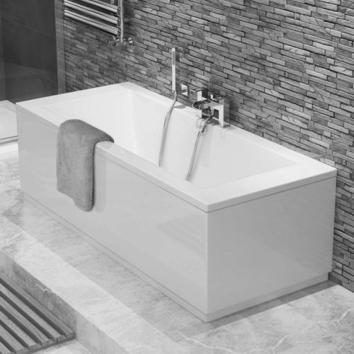 Modern-White-Bathroom-Straight-Bath-Double-Ended-Square-BathTub-BB54