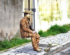Europa, Vista Strada, Statua