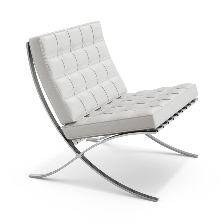 Mies van der Rohe Barcelona Chair in White Volo Leather VO785