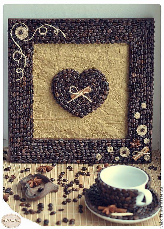 """Пано """"Сърце в кафе"""""""