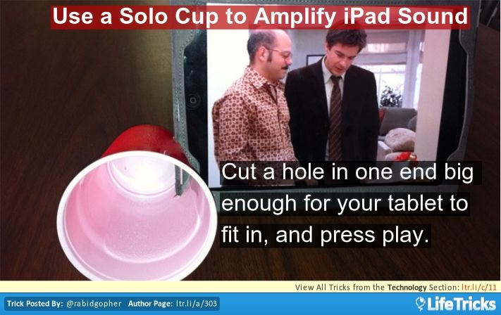 Technology & Electronics - Use a Solo Cup to Amplify iPad Sound www.callpam.com.au