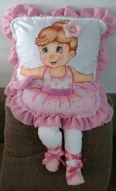 Capa para almofada bailarina bebê