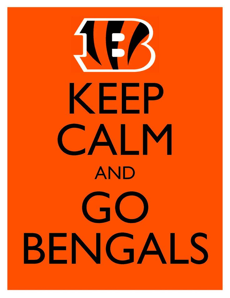 Keep Calm and Go Bengals - 8x10 Picture - Wall Hanging - Cincinnati Football NFL Orange. $7.90, via Etsy.