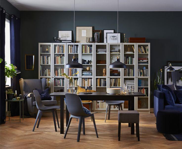 ODGER stoel | IKEAcatalogus nieuw 2018 IKEA IKEAnl IKEAnederland hout-kunststof-composiet modern eetkamer eetkamerstoel eettafel inspiratie BJURSTA uitschuifbare tafel NILS kruk BILLY/OXBERG boekenkast wit lezen