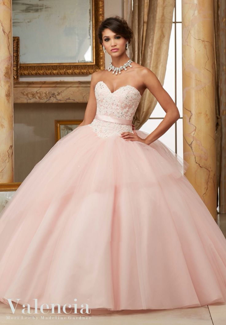 Pink color dresses for quinceanera