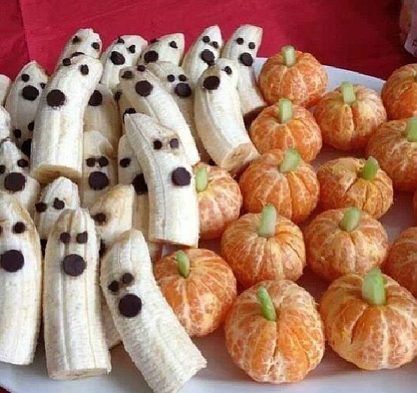 Halloween party idea for school - healthy (for the most part) snacks