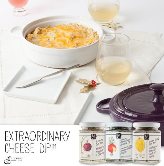 Epicure Selections Extraordinary Cheese Dip Collection