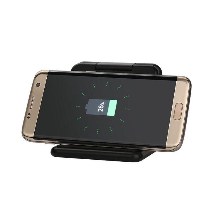 Qi Wireless 5000mAh 5V 2A Fast Charging Power Bank Holder Charger Folding Pad Dock Sale - Banggood.com
