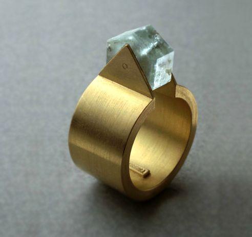 Pilar Garrigosa raw stone ring