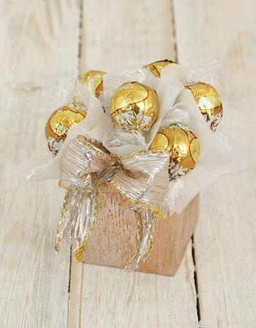 Petite Golden Lindt Ball Arrangement