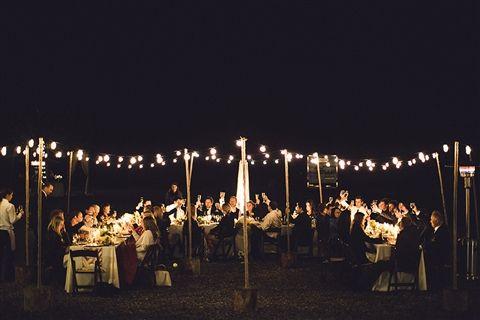 The perfect alfresco reception setting!
