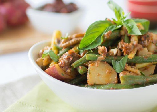 Green Bean & Potato Salad with Sun Dried Tomato Vinaigrette