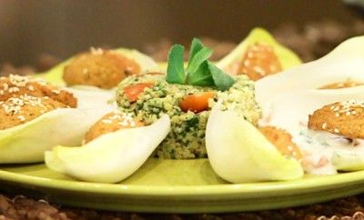 #felafel #vegan #veganfood #100%greenkitchen #leitv.it #129sky