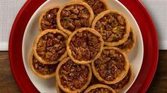 ⭐️⭐️⭐️⭐️⭐️ Mini Pecan Pies, Karo Syrup - easy to make. Used light corn syrup and baked on 350* for 22 minutes. One pie crust makes 20 mini pies-used rim of small mason jar to cut circles. Stretch the dough just a bit before placing in tin. Be careful not to overfill-creates a sticky hard texture making it difficult to remove from the mini muffin cups.
