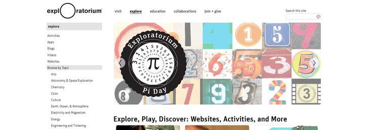 Exploratorium: Es una exploración en curso de la ciencia, el arte y la percepción humana, una vasta colección de experiencias en línea que alimentan la curiosidad.