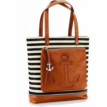 Bolso de cuero con diseño de ancla. #modanautica