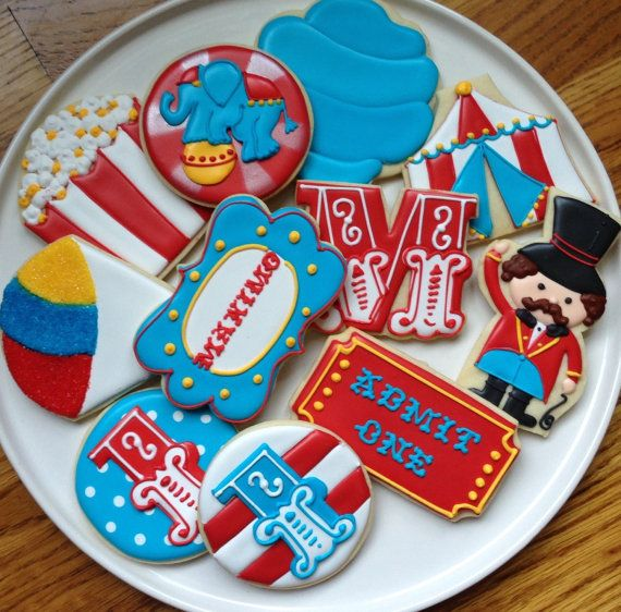 This listing is for one dozen super cute, super fun circus cookies! You can totally customize this collection. You can also choose between a