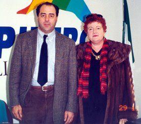 Paola Meneghetti con Antonio Di Pietro
