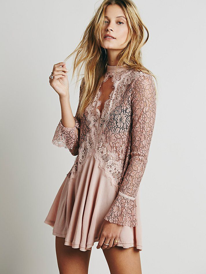 Free People Secret Origins Pieced Lace Tunic, £108.00