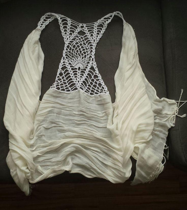 365 Crochet!: Pineapple Racer Back Scarf Vest -free crochet pattern-