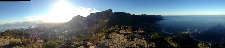 on top of Lions Head, Cape Town