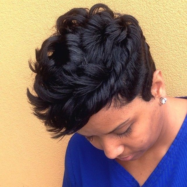 hair style in stylist feature this pixiecut done by 7643
