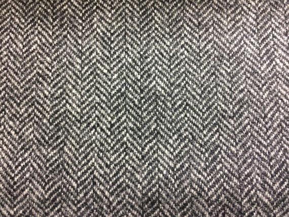 Herringbone Black And White Tweed Fabric 100 Wool Dry Etsy In 2021 Tweed Fabric Fabric Tweed