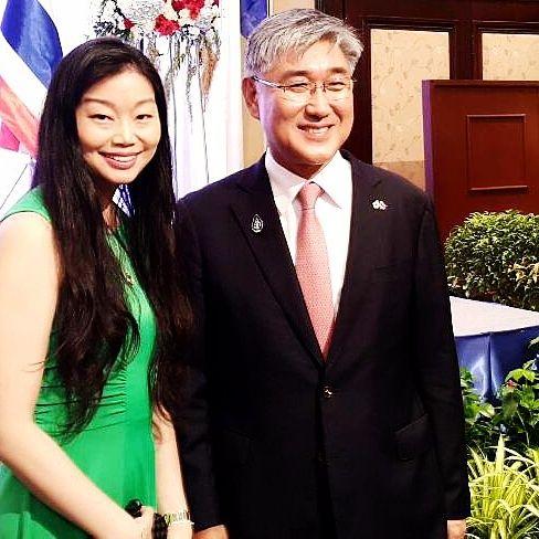 Celebrated Korean's National Day with Korean Ambassador Mr. Kwang-Il  Noh and the Korean Embassy.