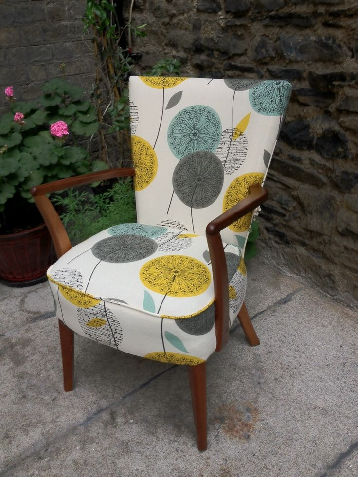 Delightful Upholstery Fabrics. I Love The Design Of The Chair (mid Century Modern)