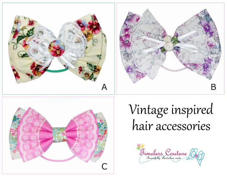VINTAGE TOUCH   Vintage inspired hair accessories.